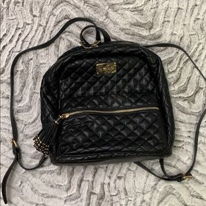 CUTE! Bebe Faux Leather Quilted Backpack Purse